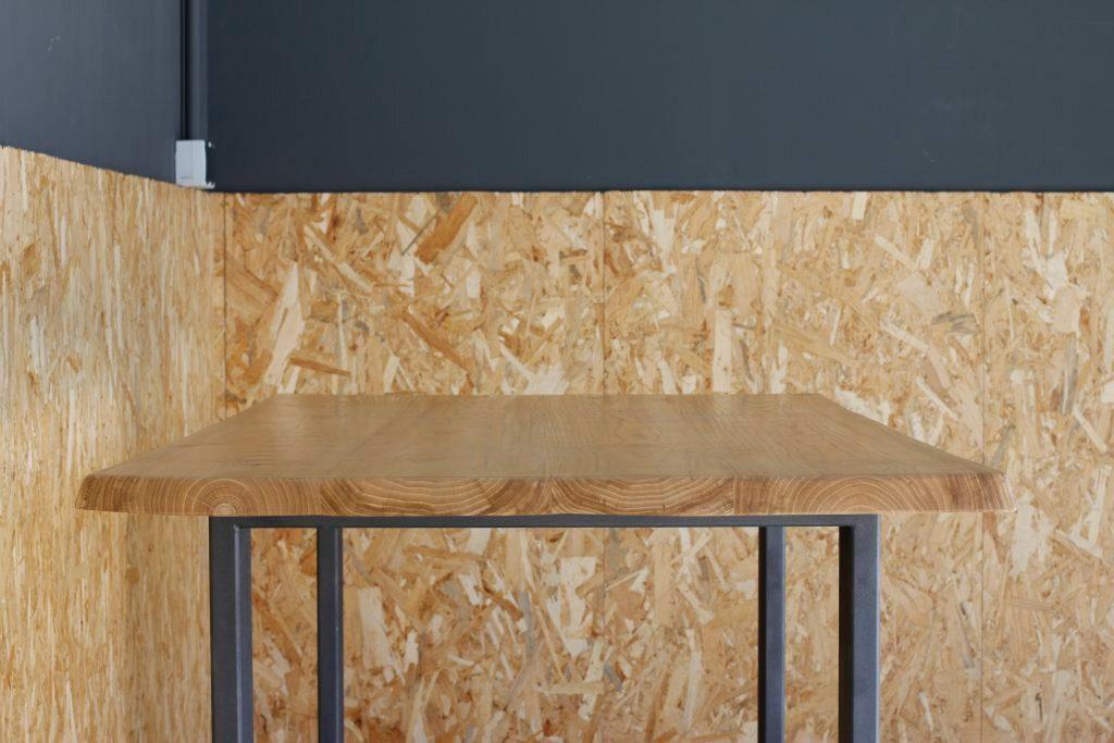 Mesa rustica de madera maciza taller acero y madera tam valladolid