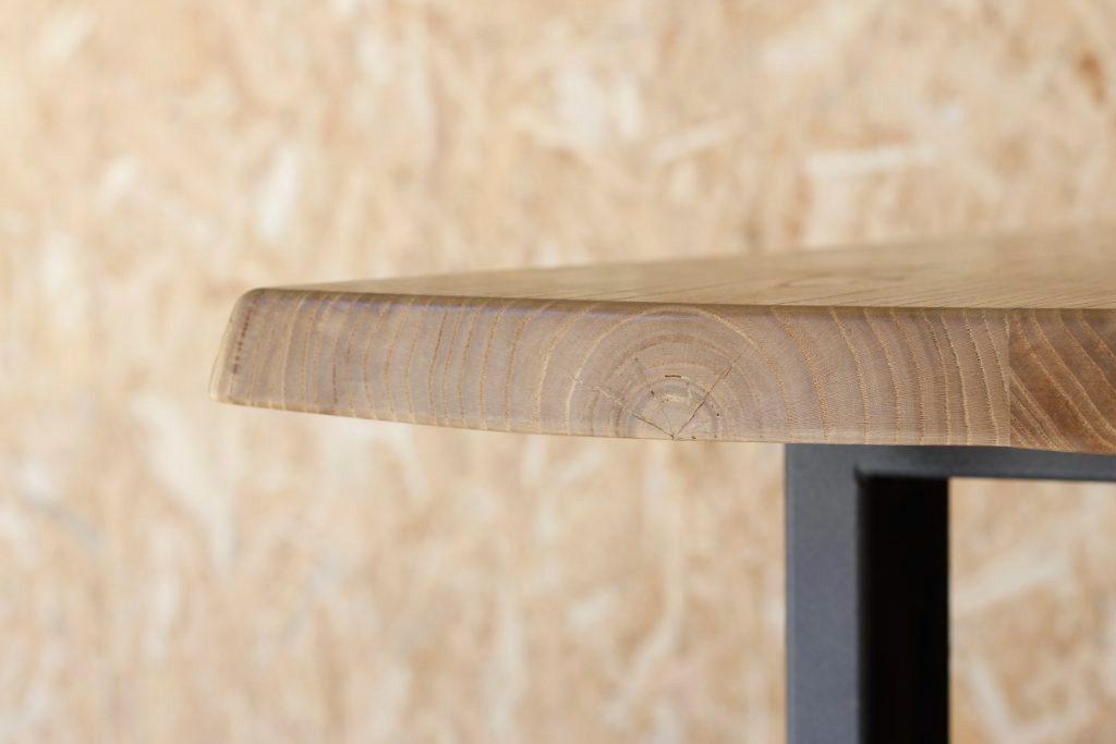 Mesa industrial de madera maciza taller acero y madera tam valladolid