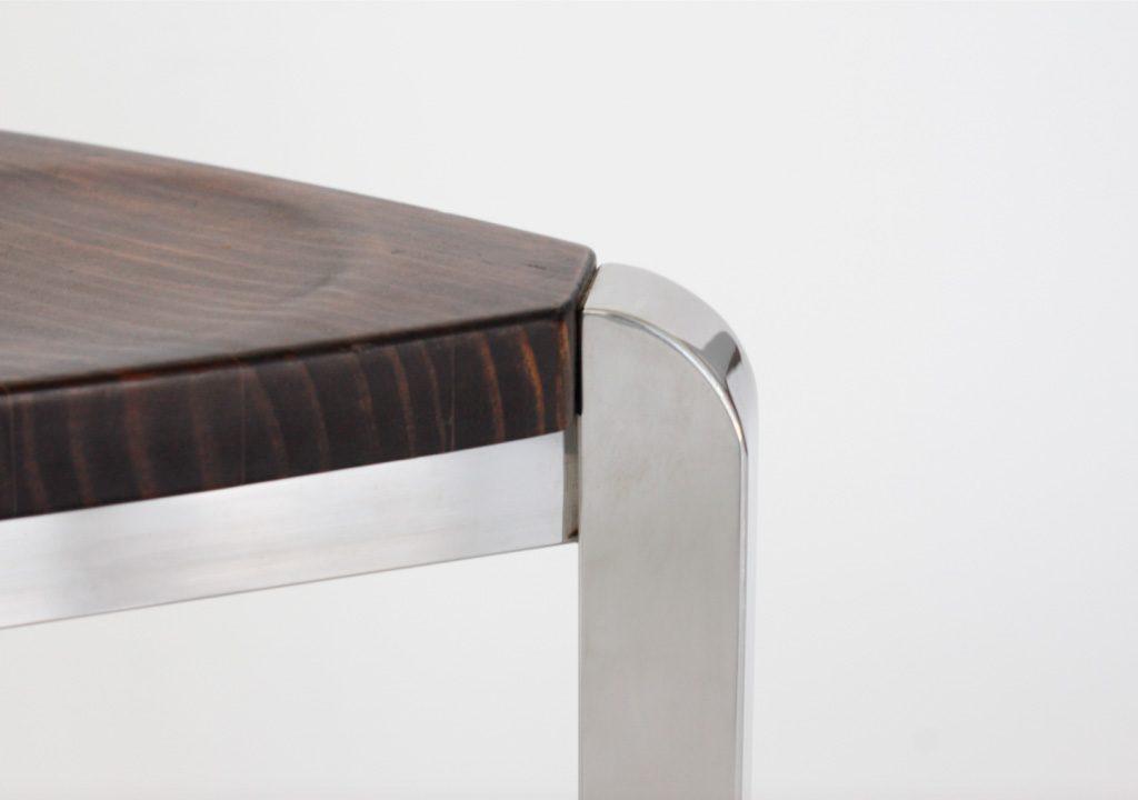 banqueta acero nox con madera trabajos a medida taller acero y madera