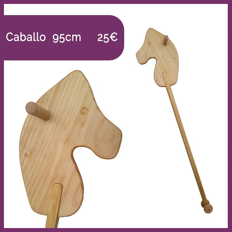caballo de madera con palo valladolid juguetes niños artesania