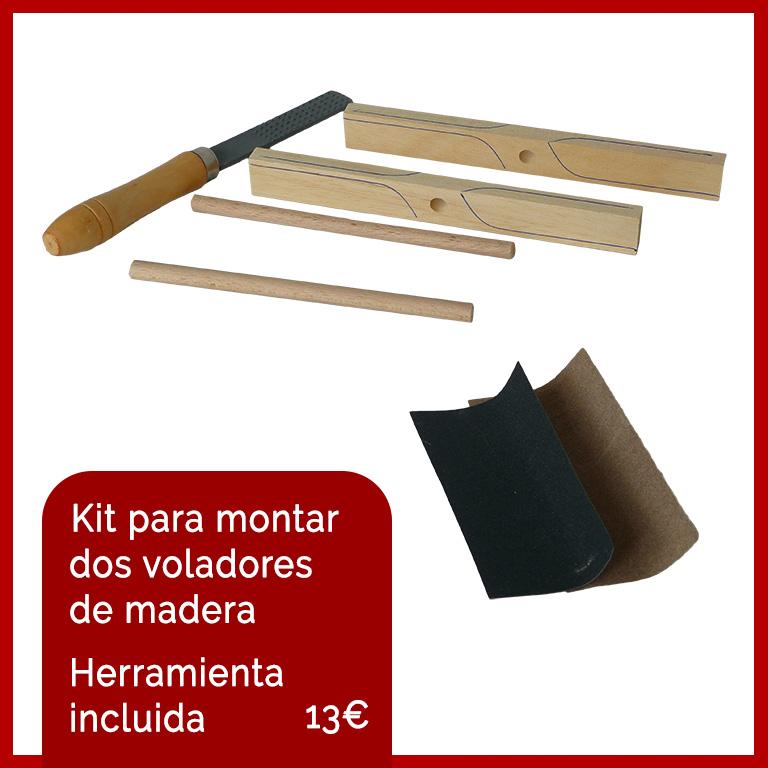 juguetes de madera kit hélice volador manualidades niños waldorf castilla y leon
