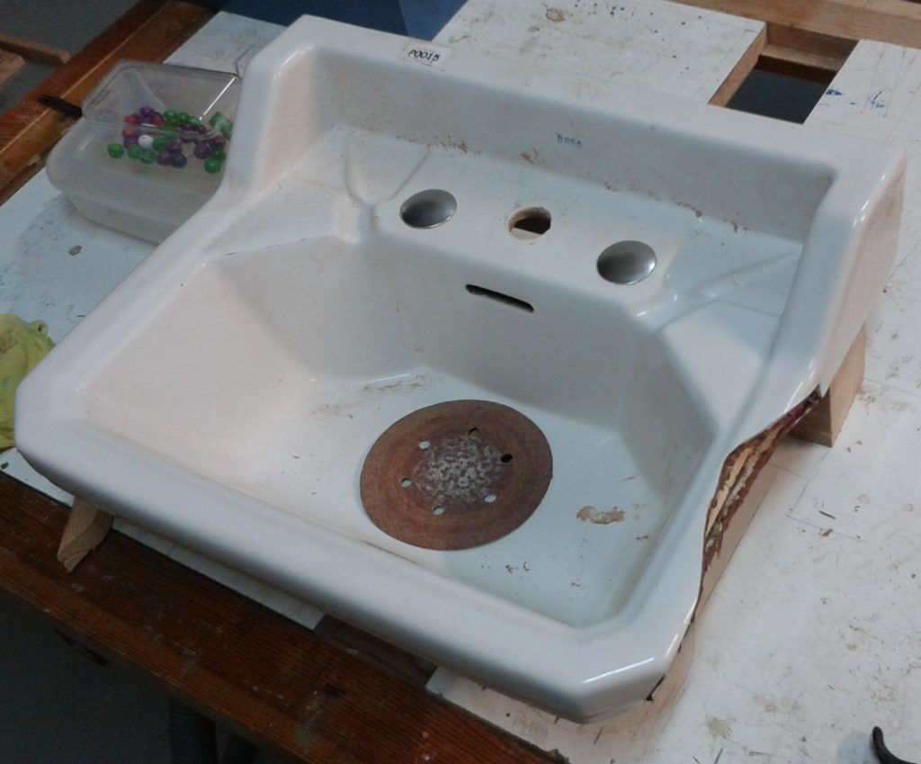 arreglo lavabo artesanal
