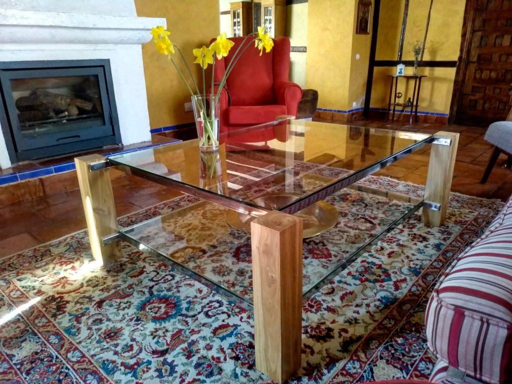 mesa madera acero inoxidable cristal taller acero y madera bernd nisch valladolid